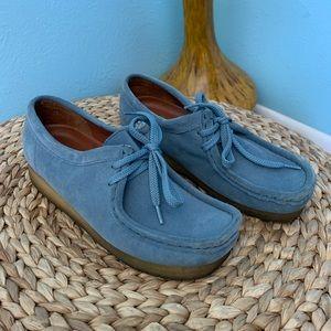 Clarks Original Blue Suede Wallabees SZ 7